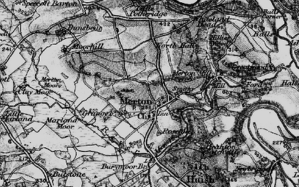 Old map of Merton Mill in 1898