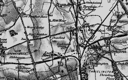 Old map of Metal Bridge in 1898