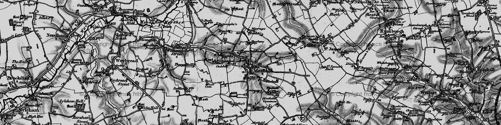 Old map of Withersdale Hall in 1898