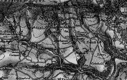 Old map of Metherell in 1896