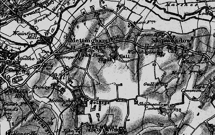 Old map of Mettingham in 1898