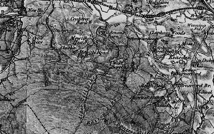 Old map of Alder Gill Syke in 1898