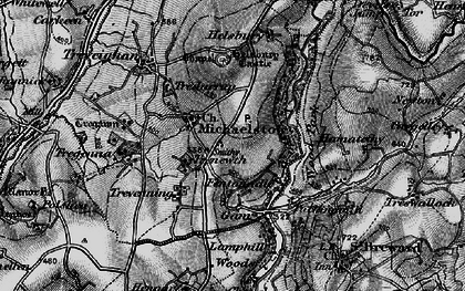 Old map of Michaelstow in 1895
