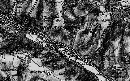 Old map of Micklefield in 1895