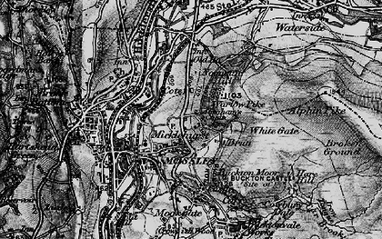 Old map of Abraham's Chair in 1896