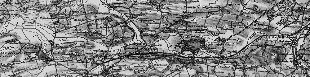Old map of Whinnow Beck in 1897