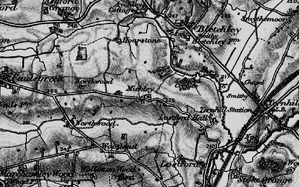 Old map of Bailey Brook in 1897
