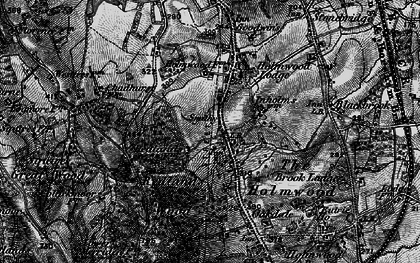 Old map of Abinger Forest in 1896