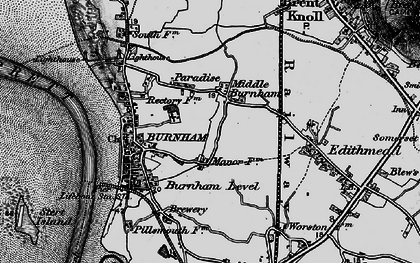 Old map of Applewithy Rhyne in 1898