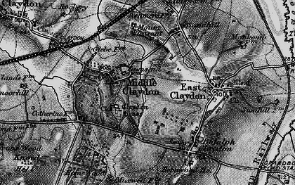 Old map of Middle Claydon in 1896