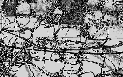 Old map of Middle Green in 1896