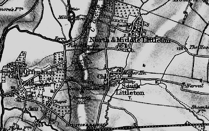 Old map of Middle Littleton in 1898