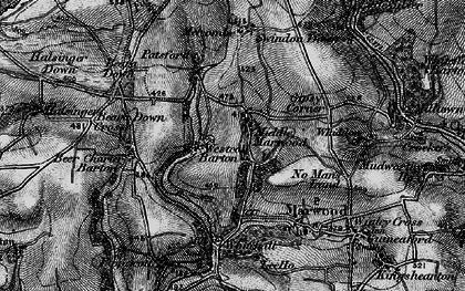 Old map of Westcott Barton in 1898