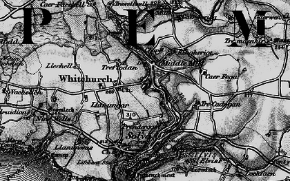Old map of Middle Mill in 1898