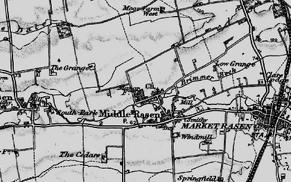 Old map of Middle Rasen in 1898
