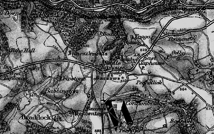 Old map of Middle Taphouse in 1896