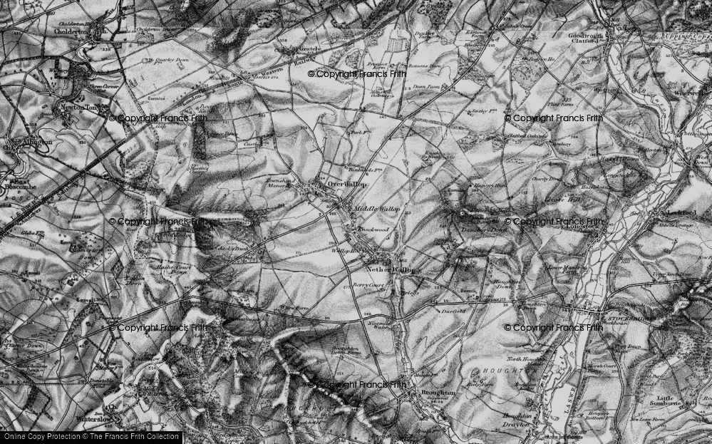 Old Map of Middle Wallop, 1895 in 1895