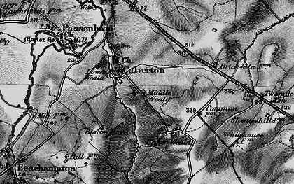 Old map of Middle Weald in 1896