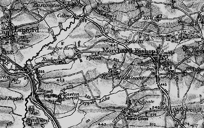 Old map of Wigham in 1898