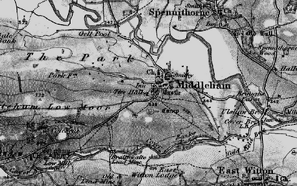 Old map of William's Hill (Motte & Bailey) in 1897