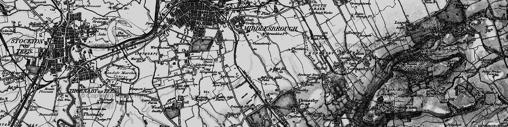 Old map of Middlesbrough in 1898