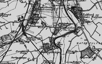 Old map of Middlethorpe in 1898