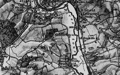 Old map of Middleton in 1895