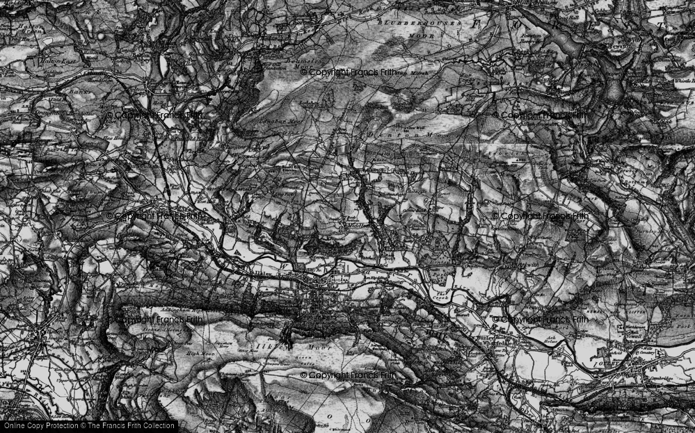 Old Map of Historic Map covering Wool Stones Hill in 1898