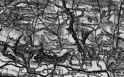 Old map of Heligar Pike in 1898