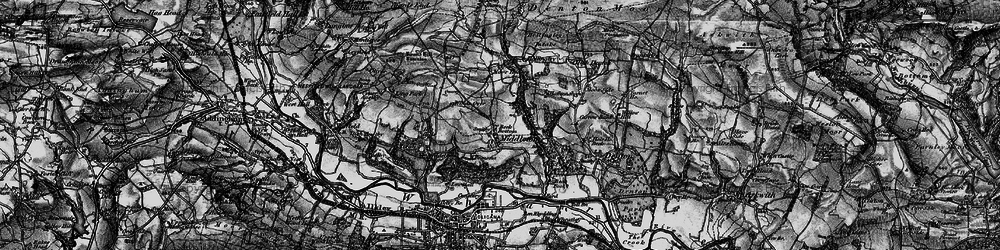 Old map of Wool Stones Hill in 1898
