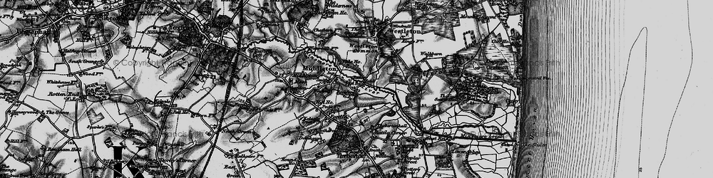 Old map of Westleton Common in 1898