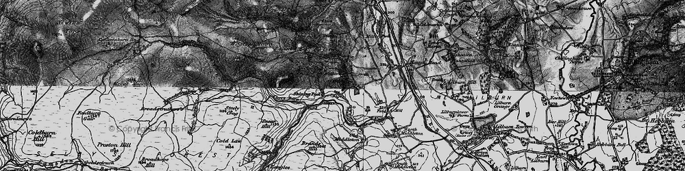 Old map of Wooler Common in 1897