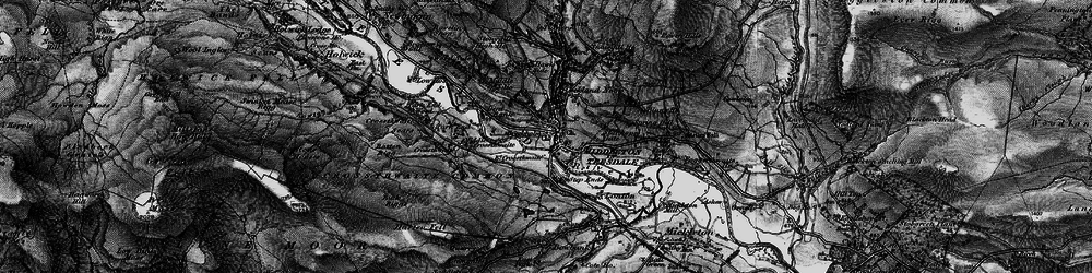 Old map of Middleton in Teesdale in 1897