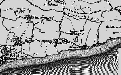 Old map of Middleton-on-Sea in 1895