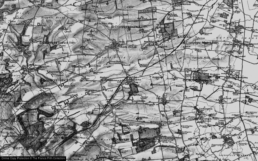 Old Map of Historic Map covering East Riding of Yorkshire in 1898