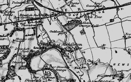 Old map of Middleton One Row in 1898