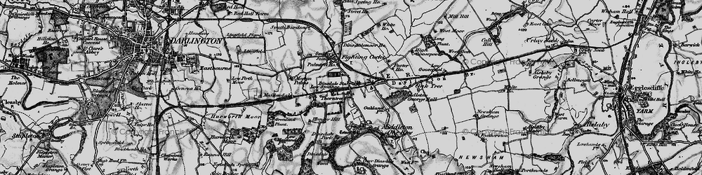 Old map of Middleton St George in 1898