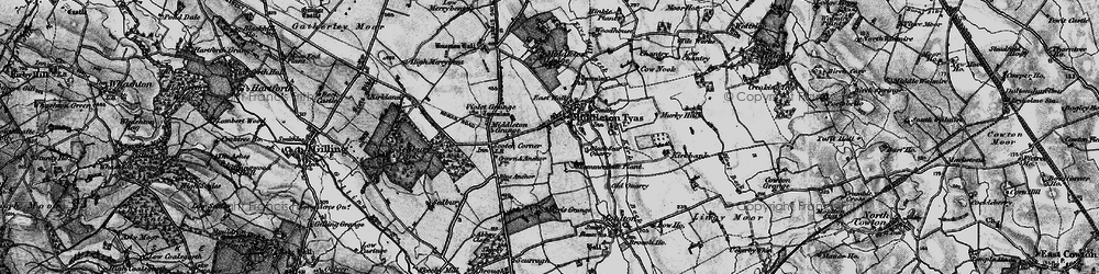 Old map of Middleton Tyas in 1897
