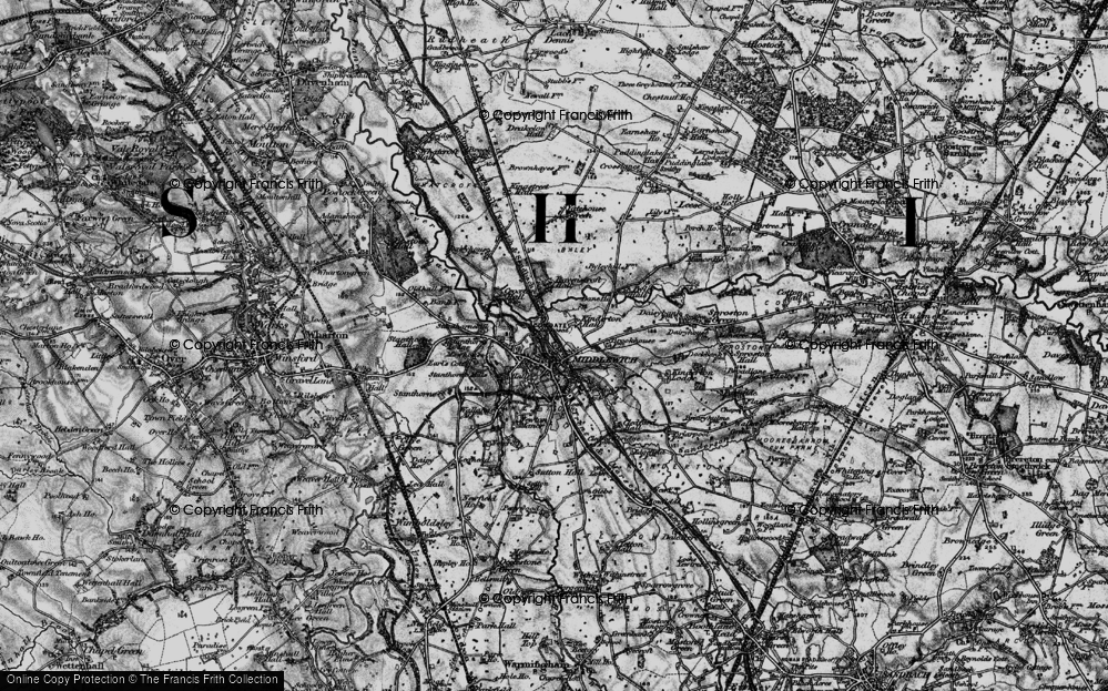 Old Map of Middlewich, 1896 in 1896