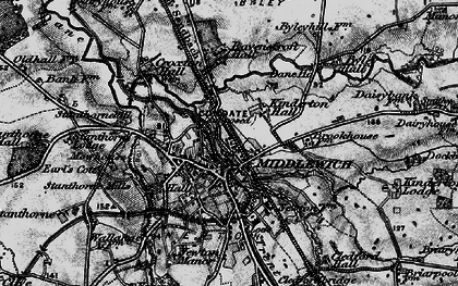 Old map of Middlewich in 1896