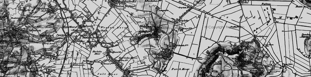 Old map of Middlezoy in 1898