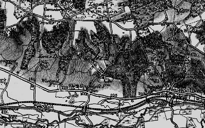 Old map of Woottens in 1895