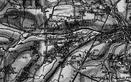 Old map of Midsomer Norton in 1898