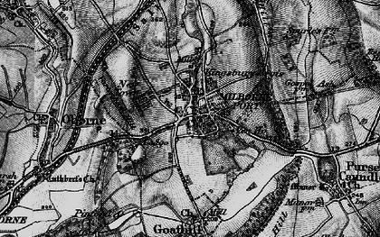 Old map of Milborne Port in 1898