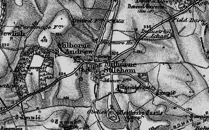Old map of Milborne St Andrew in 1898