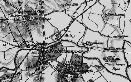 Old map of Aldborough in 1898