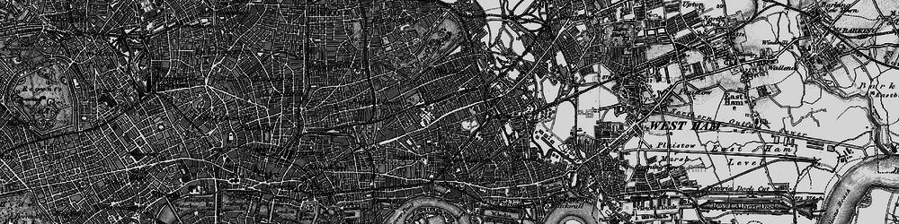 Old map of Mile End in 1896