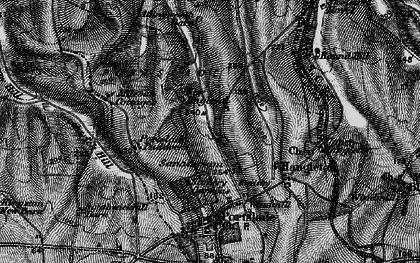 Old map of Mile Oak in 1895