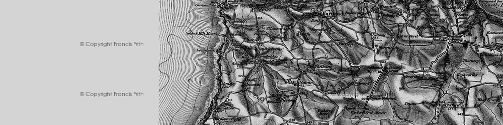 Old map of Ackworthy in 1896