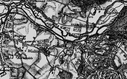Old map of Milford in 1898